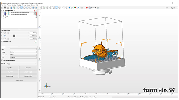 Netfabb Formlabs社製3Dプリンタ Form2